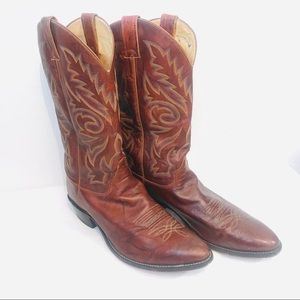 Justin boots - western cowboy boots - size 11 1/2